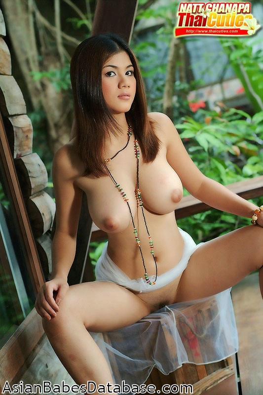 asian outdoors Busty nude