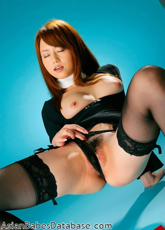 Akane yoshizawa in uniform gives blowjob 7