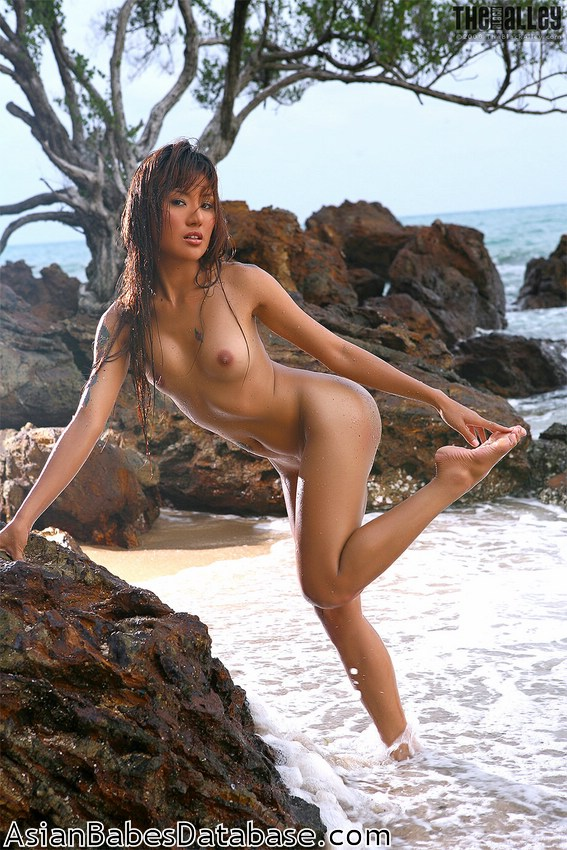 Japanese pornstar naked on island topic