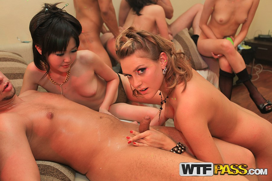 Asian all girl orgy you