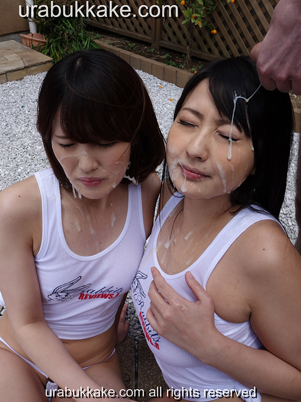 Two girls bukkake