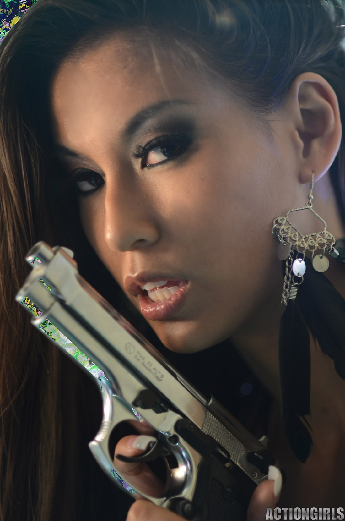 With guns girls bad