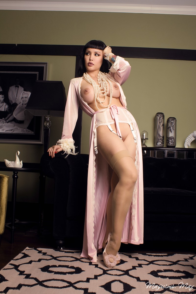 from Bryan asian babe in nightwear nude