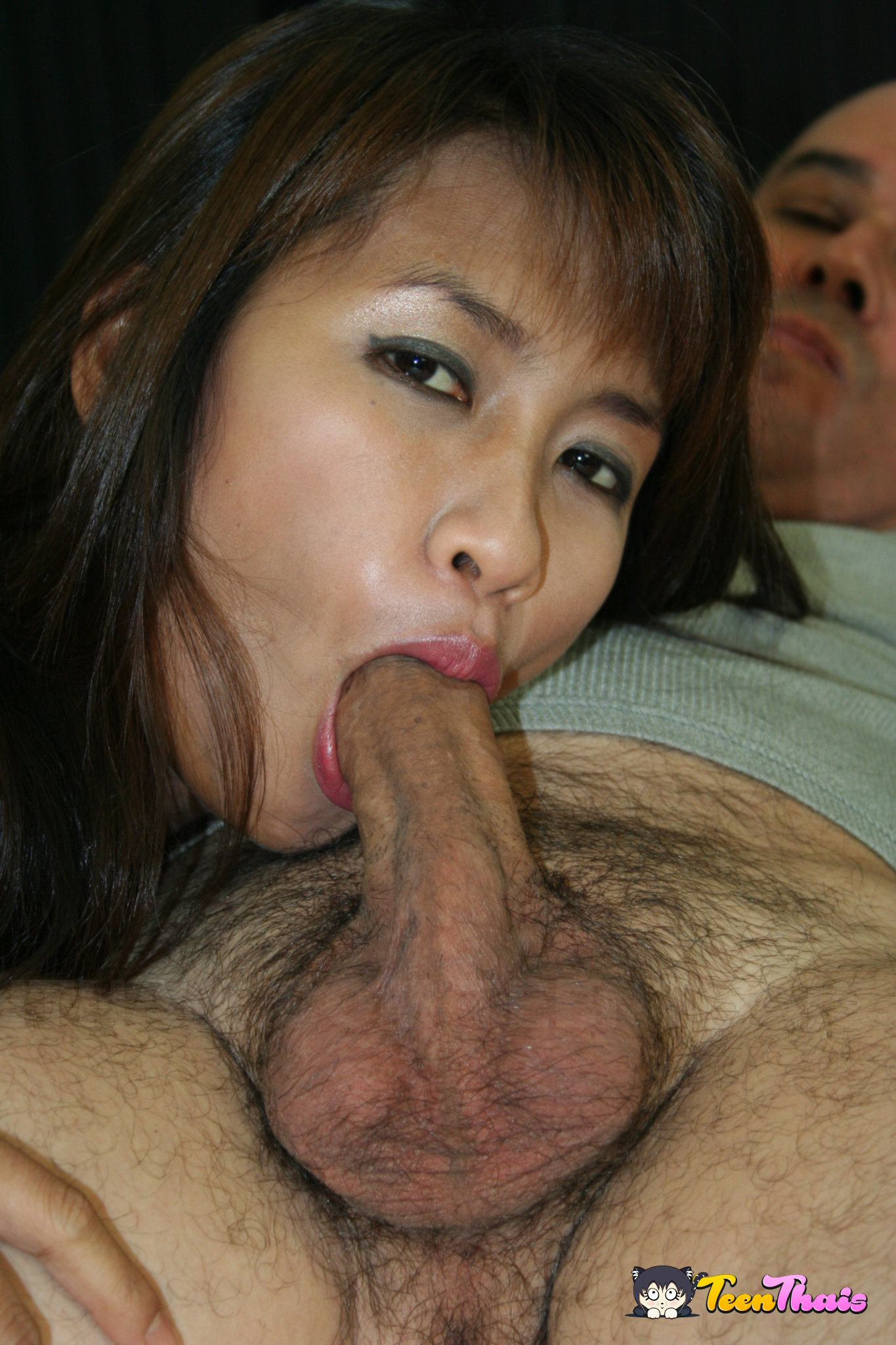 Asian girl having sex with white guy