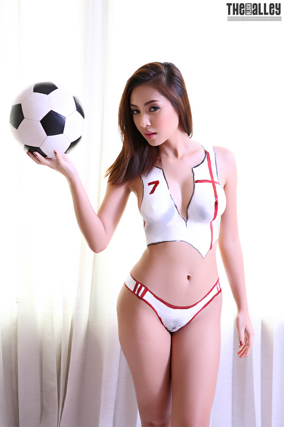 Painted football girls nude